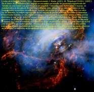 El remolino núcleo de la nebulosa del cangrejo