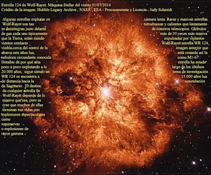 Estrella 124 de Wolf Rayet-Maquina Stellar del viento