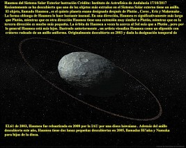 Haumea del Sistema Solar Exterior 5º PLANETA ENANO