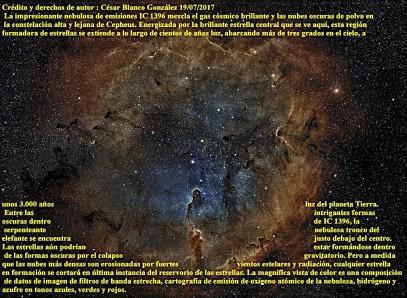 IC 1396 Nebulosa de emisión en Cepheus