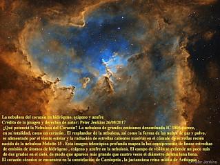 IC 1805 La nebulosa del corazón en hidrógeno, oxígeno y azufre