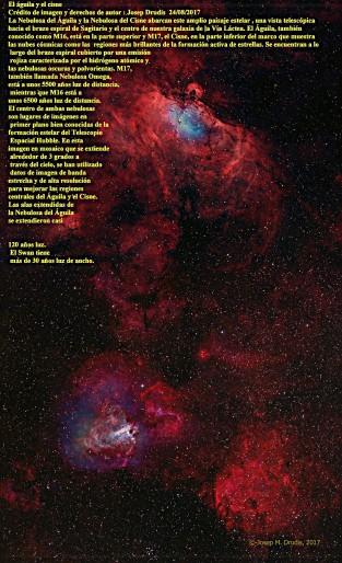 La nebulosa del Aguila y del Cisne M16 y M17