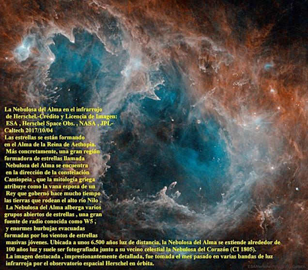 La Nebulosa del Alma en el infrarrojo de Herschel