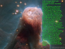 La Nebulosa del Cono tomada por el Hubble