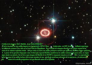Los anillos misteriosos de la supernova 1987A