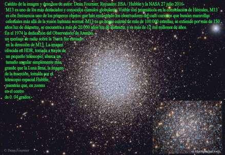 M13 Un racimo globular de Grandes estrellas