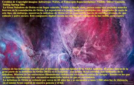 M42 NEBULOSA DE ORION VISIBLE AL INFRARROJO