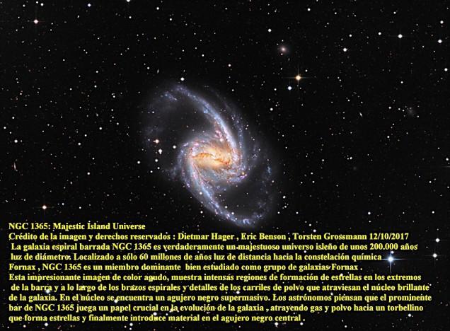 NGC1365 Majestic Islando Universo
