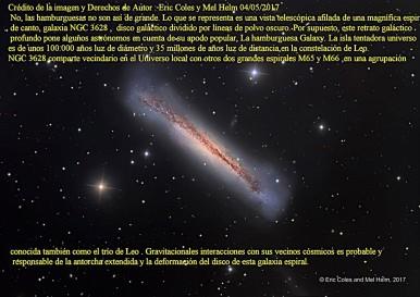 NGC3628 gALAXIA LA AMBURGUESA