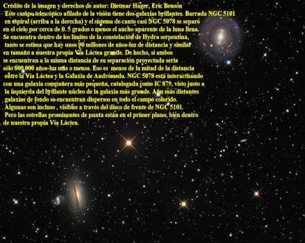 NGC5078-y NGC 5101 GALAXIAS ESPIRALES