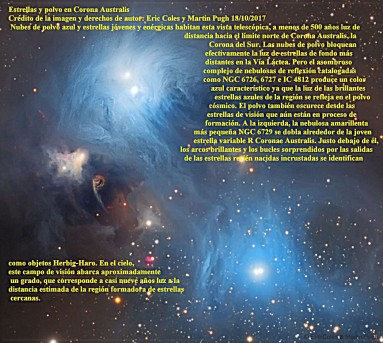 NGC6726_6727 Y IC 4812 Estrellas y polvo en Corona Australis