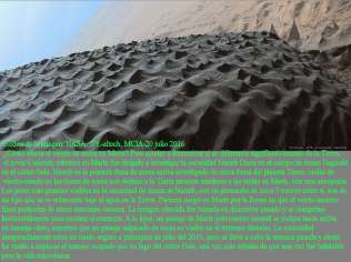 Oscuras dunas en Marte (comprimida horizontalmente) 2
