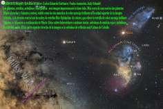 Saturno y Marte visitan la via lactea y nubes de estrellas