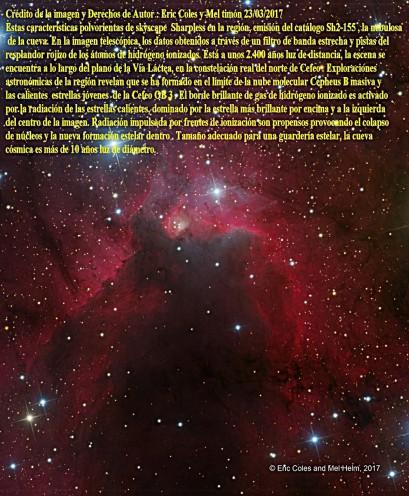 SH2-155-La Nebulosa de la cueva