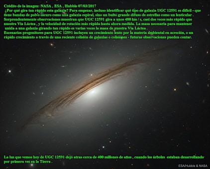UGC 12591 LA GALAXIA MAS RAPIDA Y GIRATORIA