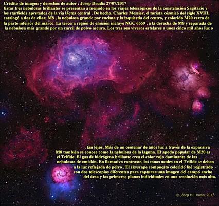 Un trio de Sagitario M8-M20 y NGC 6559