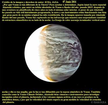 Venus por que es diferente de la tierra, al infrarrojo año 2015
