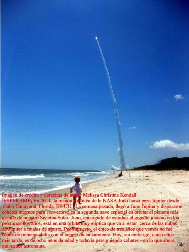 Imágen del lanzamiento Juno a Jupiter