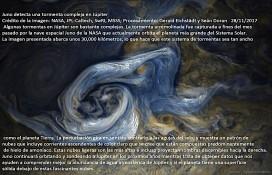 Juno detecta una tormenta compleja en Júpiter