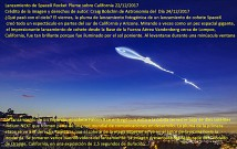 Lanzamiento de SpaceX Rocket Plume sobre California 22122017