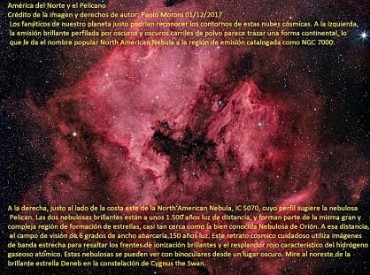 NGC7000_ Norteamerica y El Pelicano