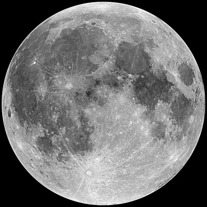 Foto de la Luna ver video rotacion lunar virtual