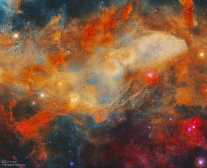 La nebulosa de Blue Horsehead en infrarrojo