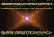 La Nebulosa Rectangular Roja de Hubble