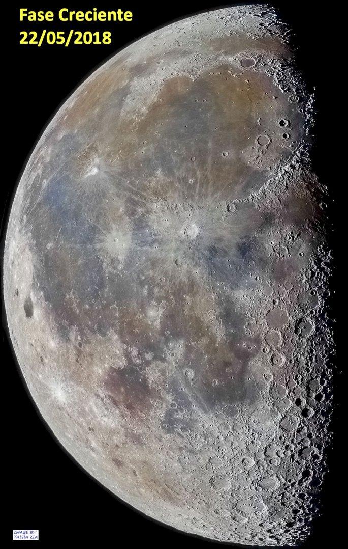 luna del 22 de mayo 2018 en Creciente