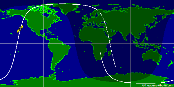 Trayectoria de un satelite