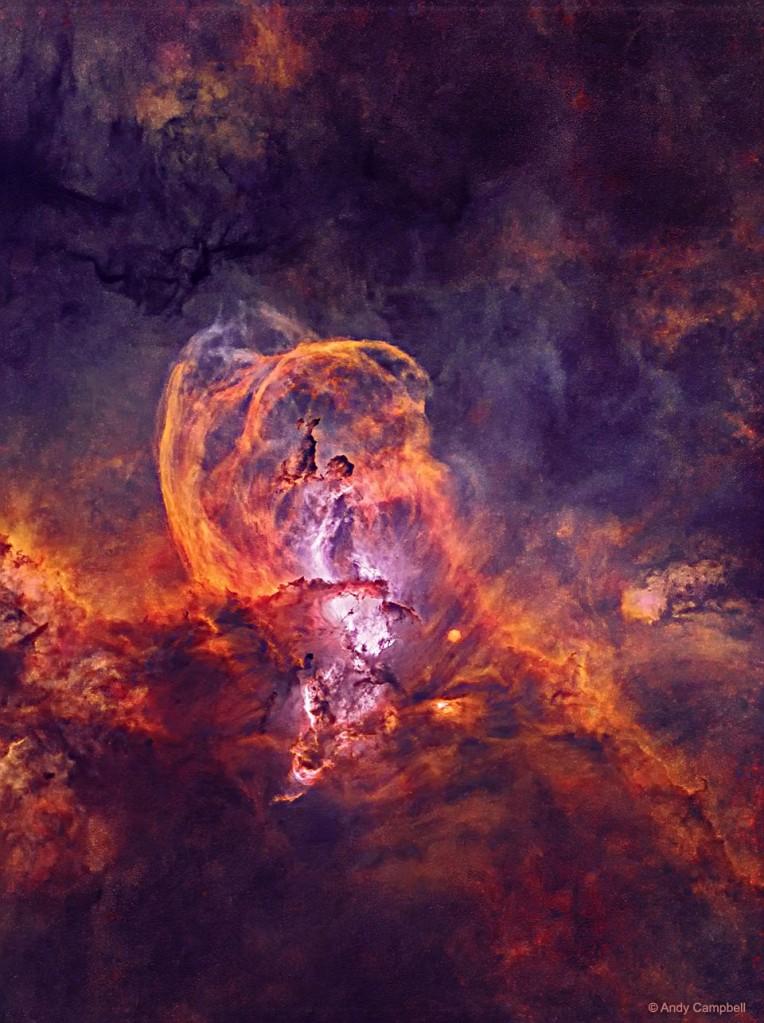 NGC 3582 NEBULOSA ESTATUA LIBERTAD